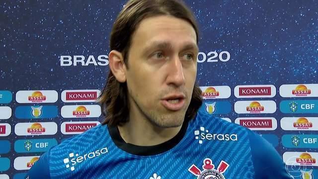 """Cássio desabafa após goleada: """"Se estiver atrapalhando o Corinthians é melhor ir embora"""""""