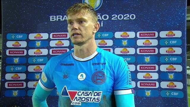 """Douglas Friedrich admite que terceiro gol do Santos era defensável: """"Frustrado"""""""