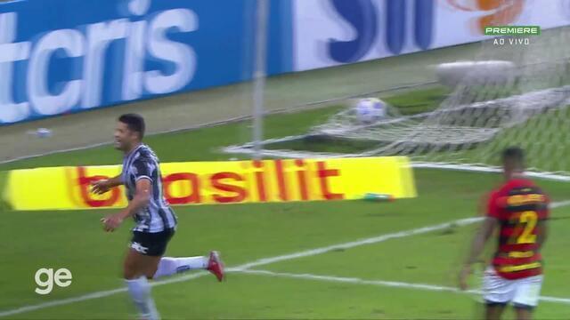 Aos 45 min do 1º tempo - gol de dentro da área de Hulk do Atlético-MG contra o Sport