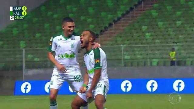Melhores momentos de América-MG 2 x 1 Palmeiras pela 24ª rodada do Campeonato Brasileiro