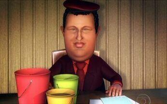 A Charge do Chico: Chávez dá a solução para a falta de água - Para resolver o problema da água na Venezuela, o presidente Hugo Chávez usou a tecnologia desenvolvida na embaixada do Brasil: banhos curtos!!! Isso não vai cheirar bem...