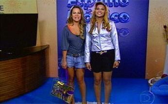 Espelho Mágico: Telespectadora vira a Isadora de Toma Lá Dá Cá - Josiléia ficou parecida com a atriz Fernanda Souza.