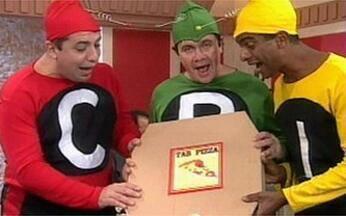 Personagens não dispensam uma pizza - Vídeo Show reúne a turma que adora uma pizza
