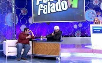 Vídeo Game: Marcius Melhem imita Jô Soares e Leandro Hassum é seu entrevistado - Dupla é motivo de risadas no quadro Falou Tá Falado.