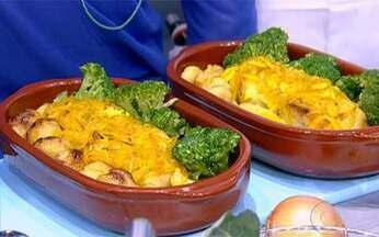 Bacalhau à Lagareiro é o prato do dia - O cearense Afrânio Duarte prepara um delicioso prato português no palco do Esquenta!