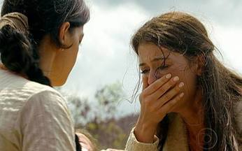 Cristina foge e entrega sua filha para Virtuosa - Ela pede que sua filha seja salva