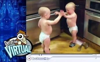Detetive Virtual analisa vídeo de conversas entre bebês - O vídeo de dois irmãos gêmeos conversando sem parar é um dos grandes sucessos da internet. O humorista Fábio Porchat e Tadeu Schmidt fazem uma interpretação do papo.