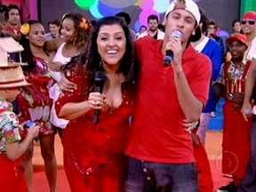Neymar e Gusttavo Lima agitaram o Esquenta! especial de Natal - Em meio à comemoração, Vídeo Show registrou tudo