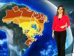 Chuva continua no Rio, Minas e Espírito Santo nesta quarta-feira (11) - Os temporais devem atingir São Paulo, o nordeste de Santa Catarina, o leste do Paraná, o sul de Minas, o Triângulo Mineiro, Goiás, o norte de Mato Grosso do Sul, Mato Grosso, Rondônia e o Acre.