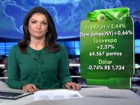 Bolsas de valores da Europa, Nova York e Brasil fecham em alta - Dados positivos sobre as indústrias chinesa, europeia e americana animaram os investidores. Aqui no Brasil. a cotação do dólar caiu para R$ 1,734.