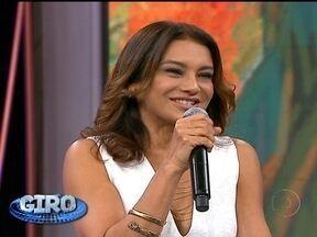 Giro: Dira Paes se emocionou no Domingão do Faustão - Confira o que rolou na programação da TV