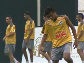 Bolas cruzadas na área do Santos preocupam Muricy Ramalho - Técnico escondeu o treino para corrigir a falha.