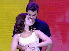Samara Felippo e Joaquim Lopes dançam na final de ´As melhores provas do Lata Velha´ - Casal refaz cena clássica de ´Dirty Dancing´