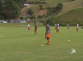 Vitória treina para enfrentar segunda partida contra o Feirense - O time tem que vencer para garantir uma vaga na final do Campeonato Baiano.