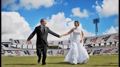 Arruda vira cenário para álbum de casamento de casal tricolor - Arruda vira cenário para álbum de casamento de casal tricolor