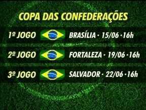 COL anuncia tabela da Copa das Confederações - Brasil só jogará no Maracanã se chegar à final.
