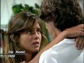 Baú do Vídeo Show: Adriana Esteves e Marcelo Faria faziam par romântico em Top Model - Novela de 1989 foi a estreia dos dois atores