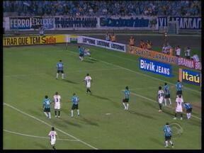 Grêmio sai derrotado de confronto contra o Atlético-MG - Partida ficou marcada pelo protesto dos torcedores gremistas contra Ronaldinho.