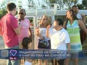 Após aceitar desafio, família de Bangu se diverte em viagem para Cabo Frio - Eles passam um final de semana na casa de praia da família de Tufão