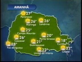 Terça-feira será ensolarada no Paraná - Não há previsão de chuva durante a semana
