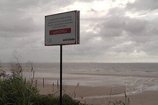 Técnicos do Ministério do Turismo avaliam situação das praias de São Luís - Técnicos verificam lançamento de esgotos nas praias de São Luís, interditadas há 4 meses.
