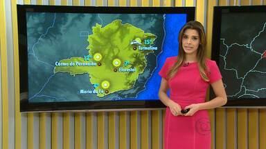 Veja a previsão do tempo para esta terça-feira em Minas Gerais - Tempor permance quente e seco, sem sinal de chuva.