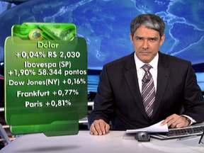 Dólar encerra pregão praticamente estável - No mercado financeiro, o dólar encerrou a segunda-feira (6) a R$ 2,030. As bolsas de valores de São Paulo, de Nova York e da Europa fecharam em alta.