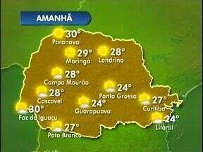 Quinta-feira será de sol no oeste e no sudoeste do estado - Em Foz do Iguaçu a máxima será de trinta graus e em Pato Branco faz vinte e sete.