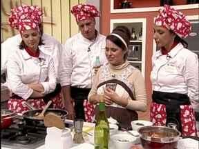 Em workshop Caiçara, chef Ana Bueno ensina as delícias da roça e do mar - Famosos aprendem a preparar entrada, prato principal e sobremesa diferente