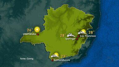 Veja a previsão do tempo para este sábado em Minas Gerais - Vento úmido vindo do oceano deixa tempo fechado em grande parte do estado.