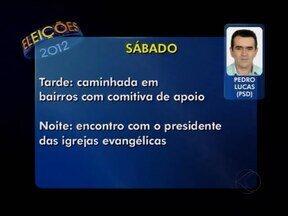 Confira agenda dos candidatos a prefeito de Patos de Minas deste sábado (18) - Informações com agenda dos três candidatos são enviadas pelas assessorias dos concorrentes.