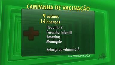 Campanha de vacinação começa neste sábado - Crianças de 0 a 5 anos devem ser levadas aos postos para atualizar cartão de vacinação