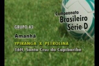Campinense folga na rodada da Série D do Brasileirão - Veja jogos dos concorrentes diretos do Campinense neste fim de semana.