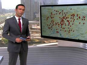 Mapa de abandono de carros é atualizado por telespectadores - O SPTV exibiu uma reportagem sobre carros abandonados em São Paulo. E pediu ajuda para montar um mapa. Em apenar quatro dias foram marcados 135 endereços.