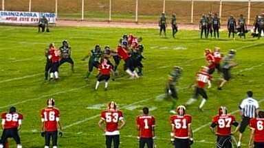 Duelo no futebol americano em Sinop - No fim de semana também teve jogão pelo futebol americano. Sinop Coyotes recebeu o Cuiabá Arsenal.