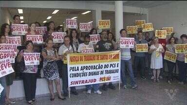 Funcionários da Justiça Federal fazem manisfestação - Categoria fez um protesto na manhã desta segunda-feira (20).