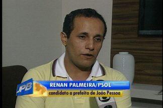 Renan Palmeira participa de entrevista na Rádio Paraíba FM - Ele é candidato a prefeito de João Pessoa pelo PSOL.