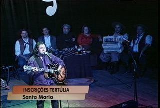 Estão abertas as inscrições para Tertúlia Nativista de Santa Maria - Fetival acontece nos dias 30 de novembro e 1º e 2 de dezembro na cidade. As músicas selecionadas vão fazer parte de um DVD