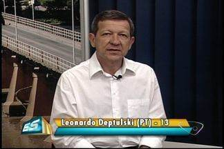Leonardo Deptulski é entrevistado pelo ESTV - Veja a entrevista com o candidato do PT à Prefeitura de Colatina.