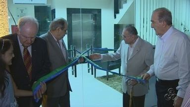 Federação do Comércio do AM inaugura novo prédio - Solenidade homenageou vice-presidente de jornalismo da TV Amazonas, Milton Cordeiro