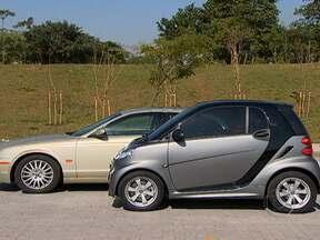 Carros mini ganham fãs no Brasil - Tem muita gente que gosta de carro grande por status. Mas isto está mudando: os carros minis estão ganhando fãs por serem completos por dentro e pequenos por fora.