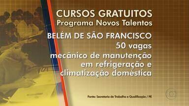 Confira vagas e os cursos oferecidos pelo Programa Novos Talentos - As vagas são oferecidas nas cidades de Belém de São Francisco, Cabo, Caruaru, Limoeiro e São Joaquim do Monte.