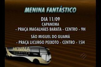 Caravana Menina Fantástica visita o nordeste do Pará - O ônibus da Menina Fantástica visita esta semana sete cidades paraenses