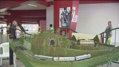 Encontro de ferromodelismo acontece em Cubatão - Miniaturas de trens são expostas no Parque Anilinas. A entrada é de graça.