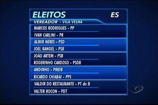 Confira a nova composição da Câmara Municipal de Vila Velha - PSB, PMDB, PR e PTN terão dois vereadores, Câmara tem 17 parlamentares.