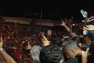 Comemoração de candidatos na orla de João Pessoa após resultado da votação - Luciano Cartaxo e Cícero Lucena foram candidatos escolhidos para ir ao 2º turno na capital.