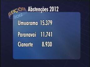Nas três principais cidades do Noroeste, 36 mil eleitores não foram votar - Em Paranavaí, Umuarama e Cianorte, 36.050 eleitores não foram às urnas no fim de semana.