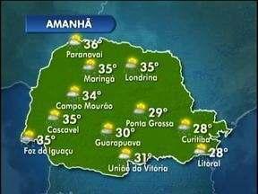 Dias serão de bastante calor no Estado - Até quarta-feira o tempo segue instável e abafado.
