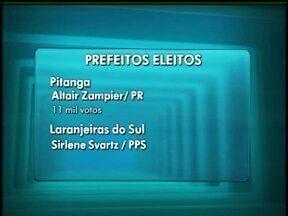 Conheça os novos prefeitos das principais cidades da região de Guarapuava - Em Prudentópolis o eleito foi Gilvan do PPS. Já em União da Vitória o vencedor foi Pedro Ivo do PT. Em Pitanga, venceu Altair Zampier do PR e no município de Laranjeiras do Sul.
