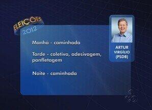 Confira a agenda dos candidatos à Prefeitura de Manaus - Confira a agenda dos candidatos à Prefeitura de Manaus nesta segunda (15)